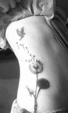 If I got a dandelion tattoo, this is where I would put it...but it wouldn't have a bird...(?)