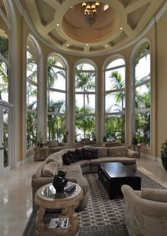 curved room with a view.