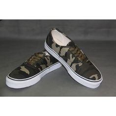 Vans Shoes Camo Classic Canvas Sneakers Cheap Van, Vans Skate, Army Camouflage, Van For Sale, Canvas Sneakers, Shoes Outlet, Vans Classic, Vans Shoes, Converse