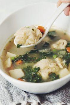 vegan dumplings & vegetable dumpling soup | RECIPE by hot for food