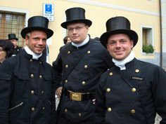"Schornsteinfeger = German Chimney Sweepers!!!  If you see them it means ""viel Glueck!"" = lots of luck"