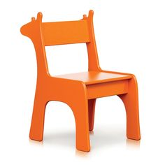 Giraffe Safari Chair - Orange, designed by Liz Ganrude at Pkolino and made for outdoor by Eco friendly Loll design. The creation that will make any kids outdoor space wild!!!!