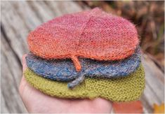Knitting pattern Heart Valentine Day Gift Linden leaf ornament Two size Knitted leaves Fall ornament Coaster Tea Pot DIY Knit Rustic garland Knitting Yarn, Knitting Patterns, Fall Knitting, Linden Leaf, Easy Knitting Projects, Knitted Dolls, Double Knitting, Stuffed Toys Patterns, Diy Tutorial