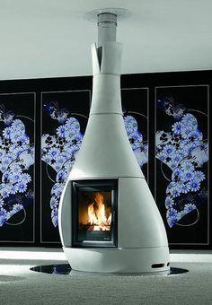 Your Fireplace with Futuristic Deconstructivist Design