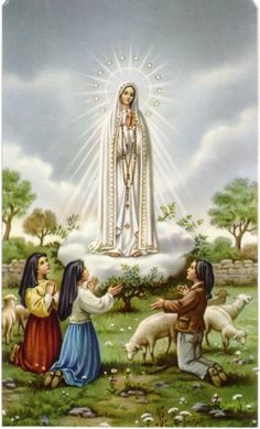 Nossa Senhora do Rosário de Fatima e os 3 pastorinhos