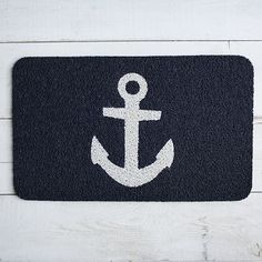 """Anchor Floor Mat #WestElm. $28.95. 30""""w x 18""""l x .5"""" h. plastic, textured for wiping shoes!"""