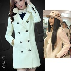 Cheap Slim long thick stand-up collar trench coat in women outcoat from women clothing on sightface.com