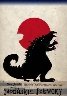 Plakat Filmowy Ryszard Kaja Japonskie potwory Galeria Polskiego Plakatu sklep internetowy sprzedaz PIGASUS