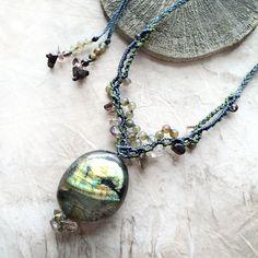 Mia Illuzia - 'Living Light' ~ Labradorite talisman with Smokey Quartz