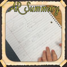 """""""AR Summaries are great for accountability for independent reading"""" from Instagramer kimdavis5618! https://instagram.com/p/7oCe_OG2pH/"""