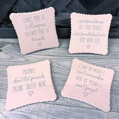 ASSORTED COASTERS - FRIENDS AND WINE THEME - stories