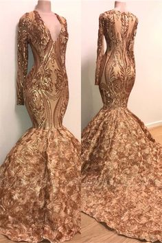 Wanna Prom Dresses,Realdressphotos in , Mermaid style, and delicate Appliques work? Babyonlinewholesale has all covered on this elegant Sexy V-neck Elegant Long Sleeve Gold Sparkle Appliques Prom Dress Prom Dresses Long With Sleeves, Formal Dresses For Women, Cheap Prom Dresses, Formal Gowns, Dress Long, Wedding Dresses, Bridesmaid Dresses, Ladies Dresses, Sleeve Dresses