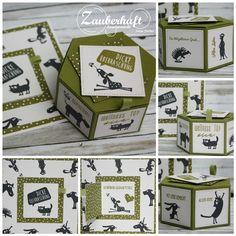 Zauberhaft-handgemacht, Geburtstag, Fensterschachtel, Peek-a-boo Card, Cats on appletrees, SU, Karte, Verpackung