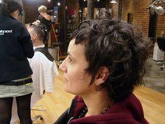 curly haircut dark by wip-hairport, via Flickr