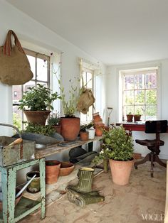 I would pot the heck out of plants in here...www.fromtherightbank.com