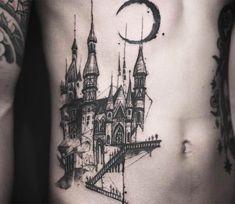 Castle tattoo by Tattooer Nadi