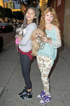 Zendaya and Bella with there pets