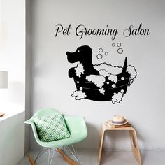 Pets Wall Decals Pet Grooming Salon Interior by DecalMyHappyShop