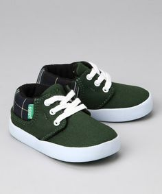 Green & Black Watch Sneaker by Keep on #zulily #fall today! Completely adorable!