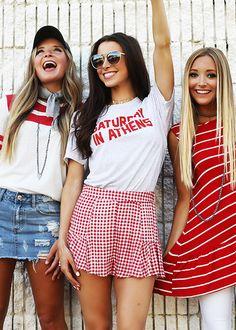 Gameday college fun, football outfits и uga football game. College Games, College Game Days, College Fun, College Outfits, Football Outfits, Sport Outfits, Cute Outfits, Teen Outfits, Tailgate Outfit