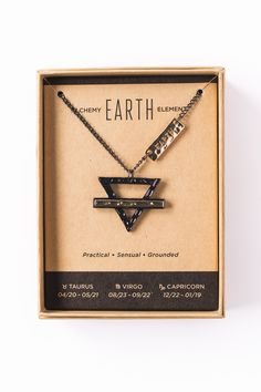Earth Element Astrology Necklace