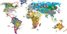 "wall game ""worldmap"" by MIMI´lou"