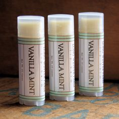 Vanilla Mint Lip Balm I don't think Young Living sells their version anymore, but I loved that stuff! It saved my chapped lips!