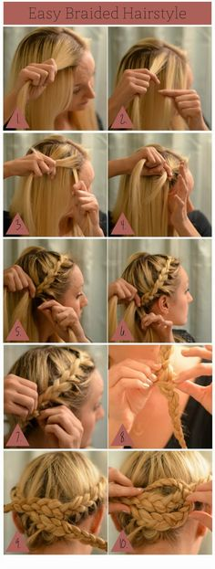 Easy Braided Hairstyle - Perfect for Fall - Back East Blonde