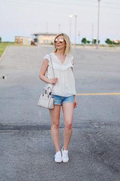 frilled-top-&-denim-shorts-1