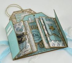 Best 12 papirdesign-blogg Mini Albums Scrap, Mini Scrapbook Albums, Scrapbook Cards, Diy Crafts For Girls, Mini Album Tutorial, Vintage Scrapbook, Album Design, Card Patterns, Book Making