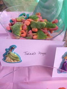 Disney Princess party - Tiana's Frogs