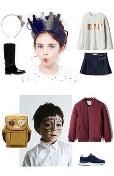 Kids' #Christmas #Fashion: eccovi una proposta differente per kids' outfit. erchietto con fiocco #Stivali impermeabili    #Maglia a manica lunga #Gonna a pieghe #cerchietto con fiocco