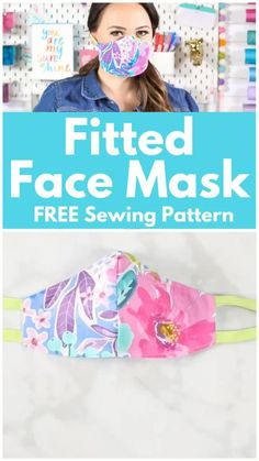 face masks diy sewing with ties Learn How to Easily Sew a Fitted Surgical Face Mask With Ties and Flexible Nose Piece With This Step-By-Step Tutorial With Video Diy Sewing Projects, Sewing Projects For Beginners, Sewing Tutorials, Dress Tutorials, Sewing Tips, Sewing Hacks, Scrap Fabric Projects, Sewing Basics, Craft Tutorials