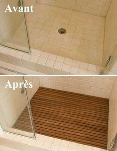 du caillebotis ajouté dans une douche