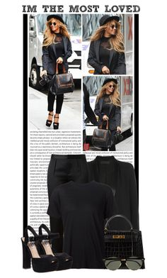 """#10 (Beyoncé)"" by lauren1993 ❤ liked on Polyvore featuring Oris, Haider Ackermann, Hermès, Alexander Wang, R13, Steve Madden and Ray-Ban"