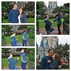 he took me to my favorite place in the world, Disney, and proposed #proposal #disney #castle #surprise