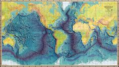 The 1977 World Ocean Floor Panorama, based on 25 years of oceanographic research by Marie Tharp * {via picadorbookroom}