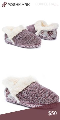 COMING SOON! Women's Winter Slippers Gift Idea + Snuggle into these winter style slippers! + Product details: Relaxed Fit, Warm and Comfortable, Indoor/Outdoor Sole, Faux Fur Detail + Stylish design is accented by faux fur details for a girly look + Wipe with a damp cloth to clean, no bleach, lay flat to dry + TPR Indoor/Outdoor Sole + 100% Polyester Furpa Insole / 100% Acrylic Upper / 100% Polyester Furpa Lining + Fits true to size: Medium (7-8), Large (9-10) + Like this listing to get a…