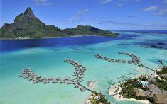 Bora Bora Island, French Polynesia. Gotta visit it someday...