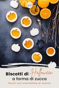 Questi golosi biscotti a forma di zucca farciti con marmellata di arance sono perfetti per Halloween. Sono semplici da realizzare, ti basterà una formina per biscotti, provali con qualsiasi marmellata, confettura o crema di Nocciole. Uno tira l'altro! Crinkle Cookies, Shortbread Cookies, Gluten Free Cookies, Healthy Cookies, Kitchen Recipes, Cooking Recipes, American Cookie, Thumbprint Cookies, Italian Cookies