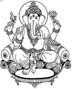 Ganesha Coloring Pages | Coloring Pages, Ganesh Chaturthi Top 20 Coloring Pages, Ganesh ...