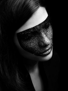 beauty, black and white, dark, fashion