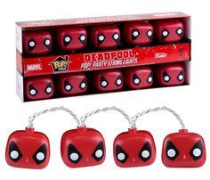 Deadpool POP! Party String Lights Will Brighten Up Your Next Chimichanga Night -  #deadpool #decor #marvel