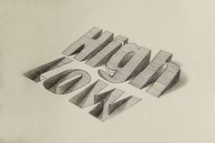 3D Lettering (by Lex Wilson) [1200  801] via /r/Art...