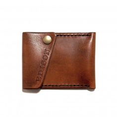 San Diego Local Designer Edison Manufacturing Co. Handmade Leather Snap Wallet
