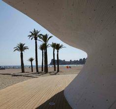 Carlos Ferrater : Office of Architecture in Barcelona : OAB : West Beach Promenade : Benidorm : Spain