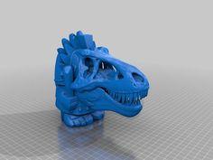 Aztec T-Rex by busybones - Thingiverse 3d Prints, T Rex, Aztec, Lion Sculpture, Solomon, Printing, Typography