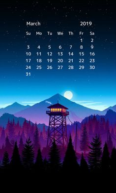 march 2019 hd printable calendar
