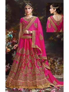 Plentiful Pink Brocade Online Designer Lehenga Choli
