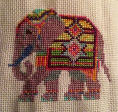 Hand Work Embroidery, Wool Embroidery, Cross Stitch Embroidery, Embroidery Patterns, Elephant Cross Stitch, Butterfly Cross Stitch, Cross Stitch Animals, Cross Stitch Designs, Cross Stitch Patterns